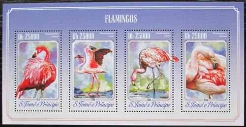Poštovní známky Svatý Tomáš 2014 Plameòáci Mi# 5810-13 Kat 10€