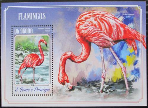 Poštovní známka Svatý Tomáš 2014 Plameòáci Mi# Block 1018 Kat 10€