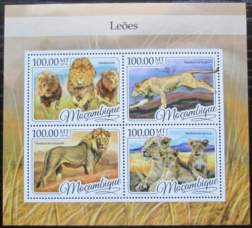 Poštovní známky Mosambik 2016 Lvi Mi# 8769-72 Kat 22€