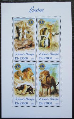 Poštovní známky Svatý Tomáš 2013 Lvi Mi# 5291-94 Kat 10€