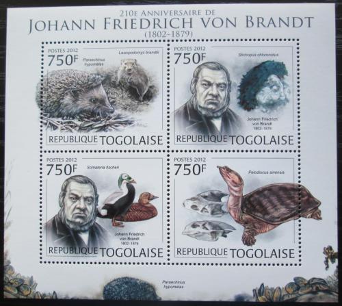 Poštovní známky Togo 2012 Johann Friedrich von Brandt Mi# 4508-11 Kat 12€