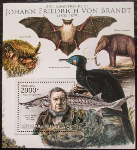Poštovní známka Togo 2012 Johann Friedrich von Brandt Mi# Block 718 Kat 8€
