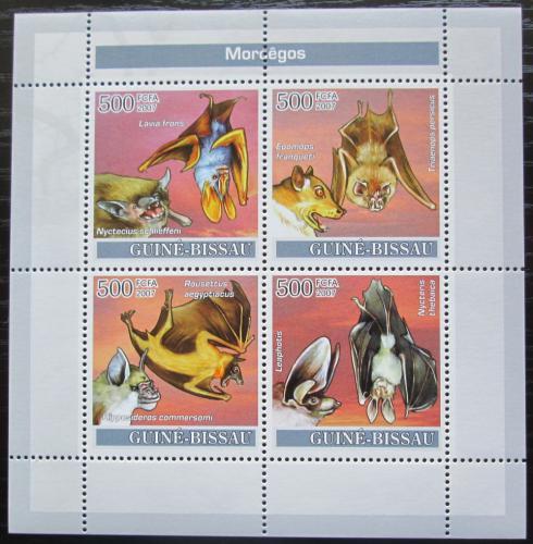 Poštovní známky Guinea-Bissau 2007 Netopýøi Mi# 3628-31 Kat 8€