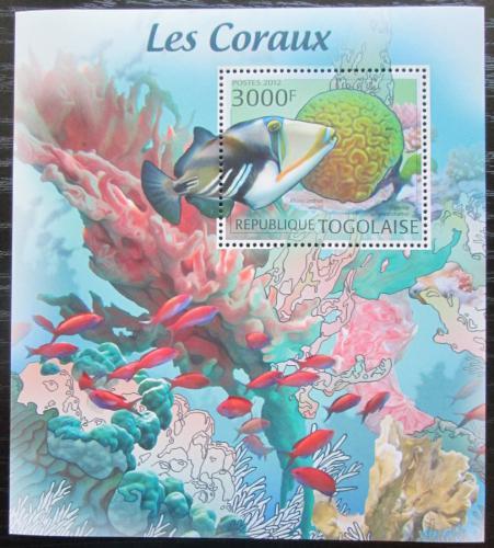 Poštovní známka Togo 2012 Ryby a korály Mi# Block 699 Kat 12€