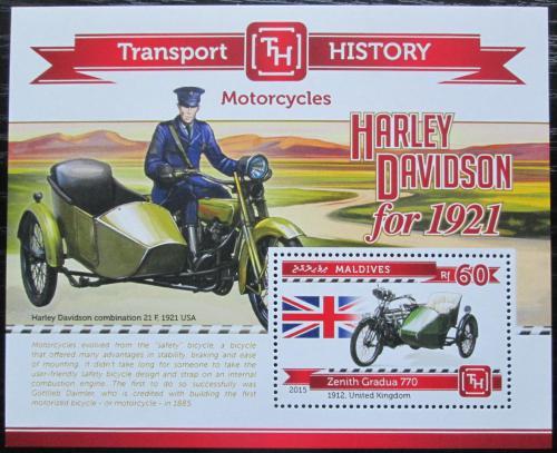 Poštovní známka Maledivy 2015 Motocykly Mi# Block 762 Kat 7.50€