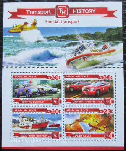 Poštovní známky Maledivy 2015 Záchranné složky Mi# 5515-18 Kat 10€