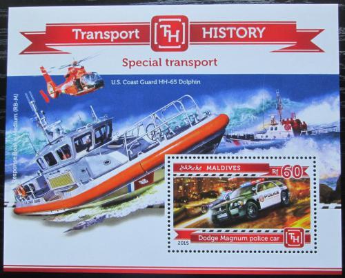 Poštovní známka Maledivy 2015 Záchranné složky Mi# Block 766 Kat 7.50€
