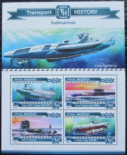 Poštovní známky Maledivy 2015 Ponorky Mi# 5530-33 Kat 11€