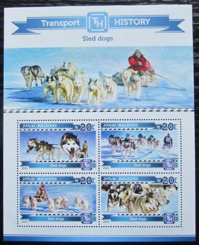 Poštovní známky Maledivy 2015 Psí spøežení Mi# 5535-38 Kat 10€