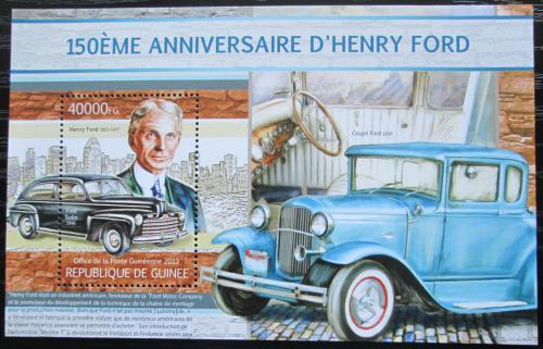 Poštovní známka Guinea 2013 Automobily Ford Mi# Block 2211 Kat 16€