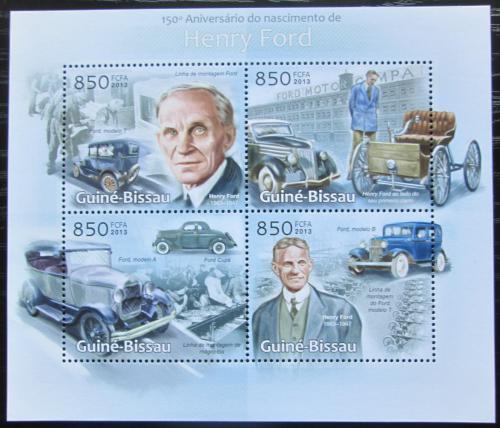 Poštovní známky Guinea-Bissau 2013 Automobily Ford Mi# 6457-60 Kat 14€