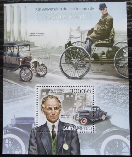 Poštovní známka Guinea-Bissau 2013 Automobily Ford Mi# Block 1133 Kat 12€