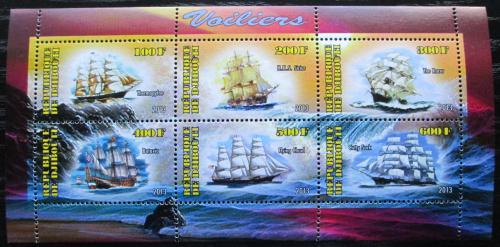 Poštovní známky Džibutsko 2013 Plachetnice Mi# N/N