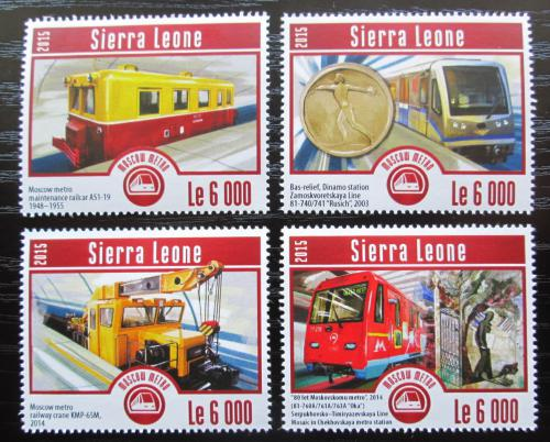 Poštovní známky Sierra Leone 2015 Moskevské metro Mi# 6229-32 Kat 11€