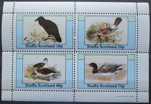 Poštovní známky Staffa, Skotsko 1986 Ptáci Mi# N/N
