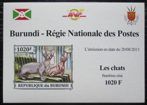 Poštovní známka Burundi 2013 Bambino neperf. DELUXE Mi# 3248 B Block