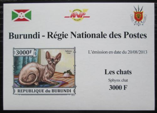 Poštovní známka Burundi 2013 Sphynx neperf. DELUXE Mi# 3250 B Block