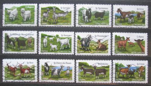 Poštovní známky Francie 2015 Kozy Mi# 6077-88 Kat 18€