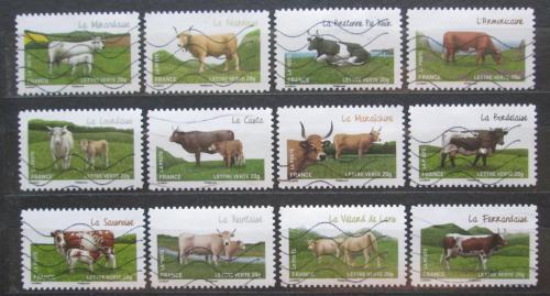 Poštovní známky Francie 2014 Francouzské krávy Mi# 5779-90 Kat 16.80€