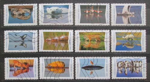 Poštovní známky Francie 2020 Odrazy zvíøat ve vodì Mi# 7529-40 Kat 26€