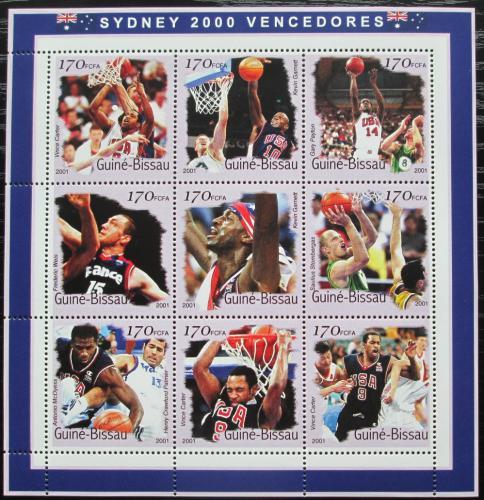 Poštovní známky Guinea-Bissau 2001 LOH Sydney, basketbal Mi# 1297-1305