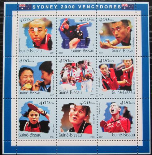 Poštovní známky Guinea-Bissau 2001 LOH Sydney, stolní tenis Mi# 1315-23 Kat 15€