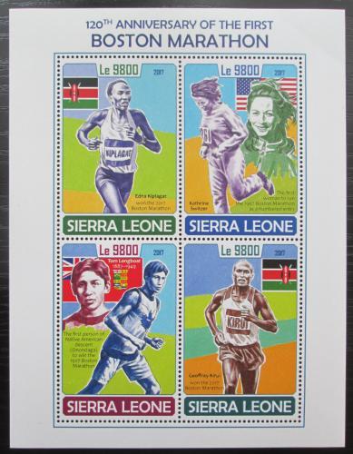 Poštovní známky Sierra Leone 2017 Bostonský maratón Mi# 8975-78 Kat 11€