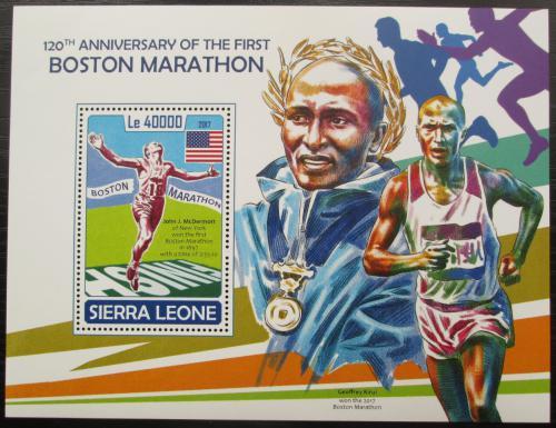 Poštovní známka Sierra Leone 2017 Bostonský maratón Mi# Block 1324 Kat 11€