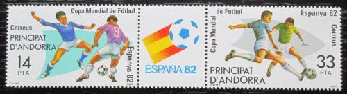 Poštovní známky Andorra Šp. 1982 MS ve fotbale Mi# 155-56