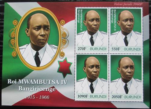 Poštovní známky Burundi 2012 Král Mwambutsa IV. Mi# 2486-89