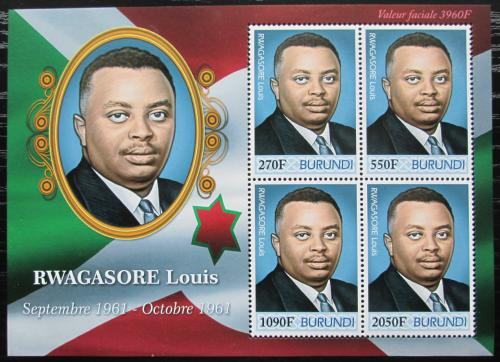 Poštovní známky Burundi 2012 Princ Louis Rwagasore Mi# 2494-97