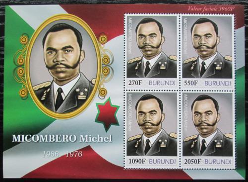 Poštovní známky Burundi 2012 Prezident Michel Micombero Mi# 2498-2501