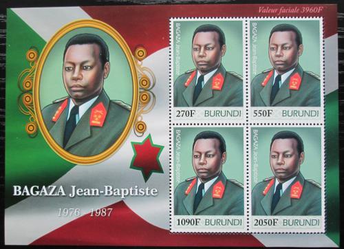 Poštovní známky Burundi 2012 Prezident Jean-Baptiste Bagaza Mi# 2502-05