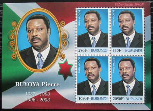 Poštovní známky Burundi 2012 Prezident Pierre Buyoya Mi# 2506-09