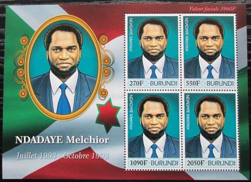 Poštovní známky Burundi 2012 Prezident Melchior Ndadaye Mi# 2510-13