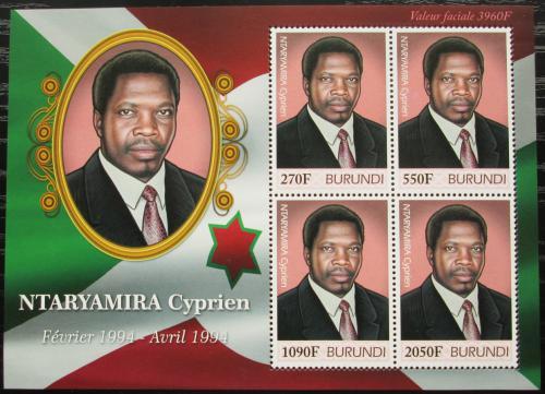Poštovní známky Burundi 2012 Prezident Cyprien Ntaryamira Mi# 2514-17