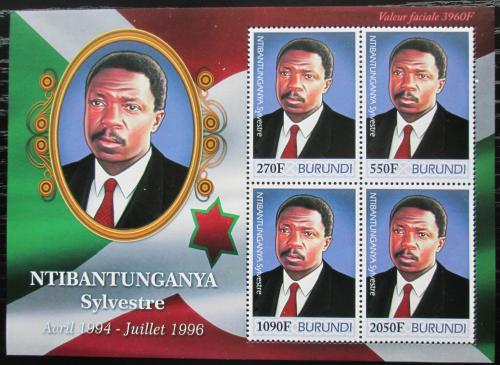 Poštovní známky Burundi 2012 Prezident Sylvestre Ntibantunganya Mi# 2518-21