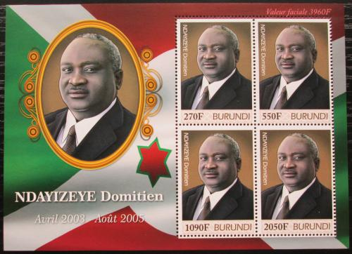 Poštovní známky Burundi 2012 Prezident Domitien Ndayizeye Mi# 2522-25