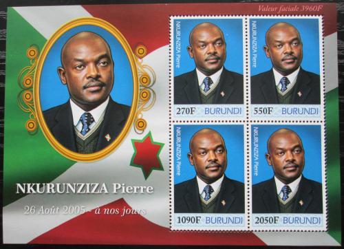 Poštovní známky Burundi 2012 Prezident Pierre Nkurunziza Mi# 2526-29