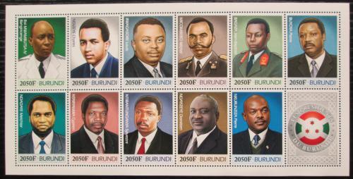 Poštovní známky Burundi 2012 Prezidenti a králové Mi# N/N