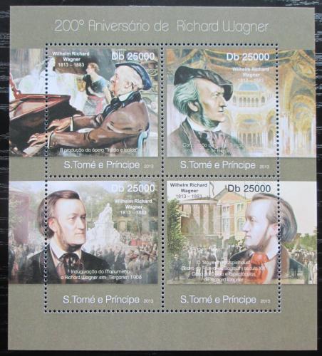 Poštovní známky Svatý Tomáš 2013 Richard Wagner, skladatel Mi# 4966-69 Kat 10€