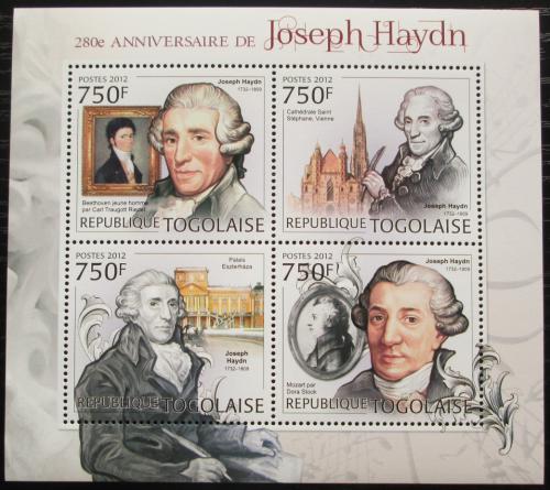 Poštovní známky Togo 2012 Joseph Haydn, skladatel Mi# 4498-4501 Kat 12€