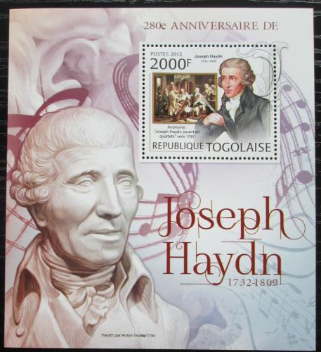 Poštovní známka Togo 2012 Joseph Haydn, skladatel Mi# Block 716 Kat 8€