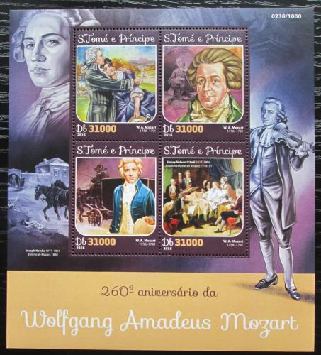 Poštovní známky Svatý Tomáš 2016 Wolfgang Amadeus Mozart Mi# 6516-19 Kat 12€