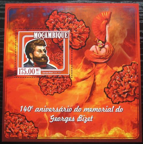 Poštovní známka Mosambik 2015 Georges Bizet, skladatel Mi# Block 989 Kat 10€