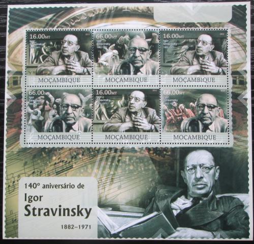 Poštovní známky Mosambik 2012 Igor Stravinskij, skladatel Mi# 5909-14 Kat 14€