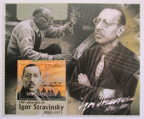Poštovní známka Mosambik 2012 Igor Stravinskij, skladatel Mi# Block 653 Kat 10€