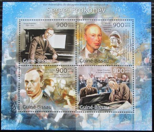 Poštovní známky Guinea-Bissau 2013 Sergej Prokofjev Mi# 6482-85 Kat 14€