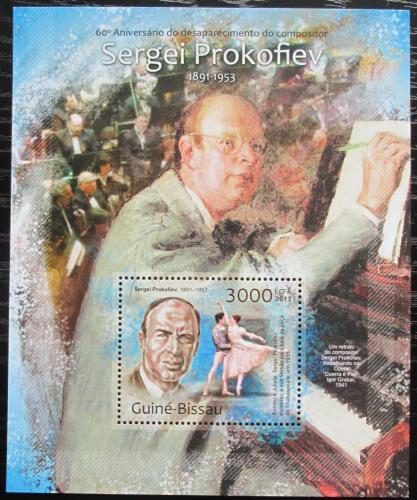 Poštovní známka Guinea-Bissau 2013 Sergej Prokofjev Mi# Block 1138 Kat 12€
