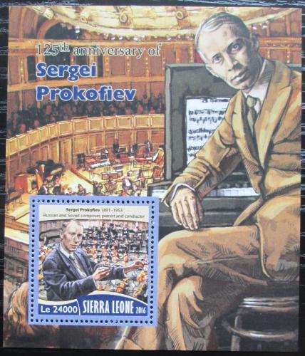 Poštovní známka Sierra Leone 2016 Sergej Prokofjev Mi# Block 1019 Kat 11€